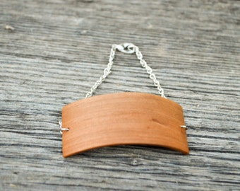 Bent Cherry wood Bracelet