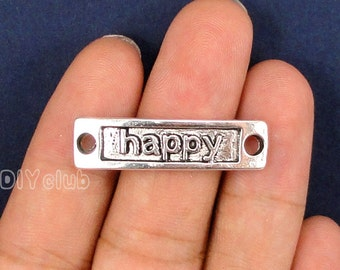 15pcs of Antique Tibetan silver Happy Charms pendants 34x9mm