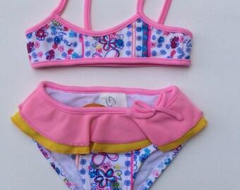 Floral Print Bikini (Childrens Size 6-9mo)