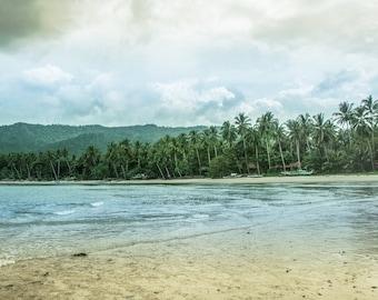 Tropical Paradise, Beach Photography, Ocean, Palm trees, Sea Decor, Coastal, Summer, Travel, Philippines, Asia