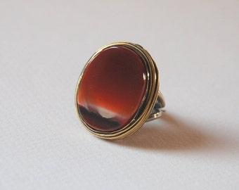 Agate  Gemstone Sterling Silver Ring