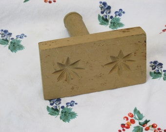 Butter Stamp - Wooden - Kitchenware - Vintage