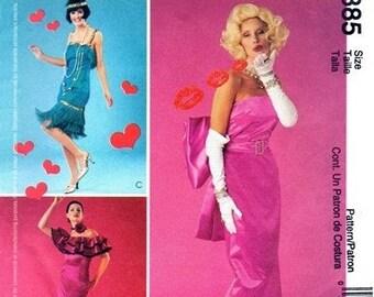 Simplicity 3385 Marilyn Monroe Gentlemen Prefer Blondes Dress 2001 / SZ14-20 UNCUT