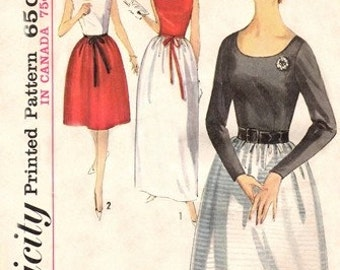 Simplicity 5533 Gala Event Blouse & Skirt 1964 / SZ14 UNCUT