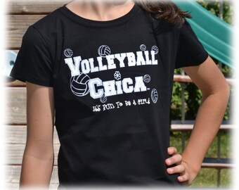 Girls Volleyball Shirt - Volleyball Gift - Volleyball tShirt Black w/ Silver Balls - Volleyball Mom - Volleyball Team - Beach Volleyball