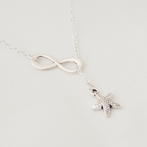 Delicate Necklace, Infinity Necklace, Starfish Necklace