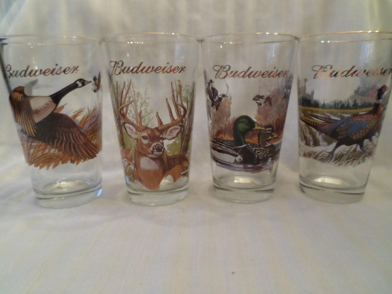 80s Wildlife Budweiser Pint Glasses