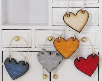 Shabby Chic Heart Wood