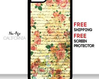 Vintage Flower IPhone 5C Case Flower Pattern iPhone 4S Case Floral Pattern IPhone 5C Case Colorful Girly IPhone 4S Case Floral IPhone Case