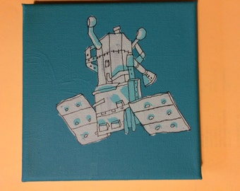 Machine Machinery Satellite Painting