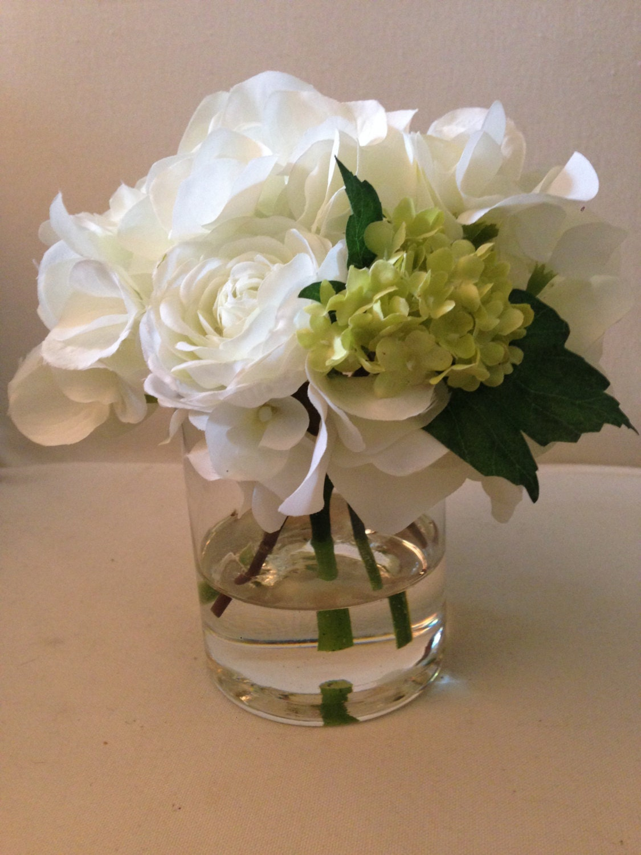 Artificial Flower Decoration: Faux Flower Arrangements In Acrylic Water Hydrangea