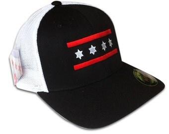 Blackhawks/Bulls Mesh Chicago Flag Hat