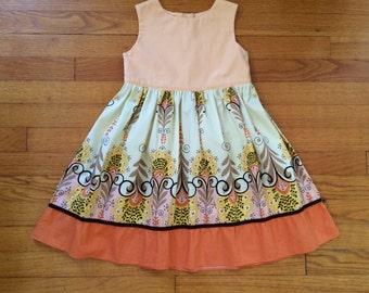 100% cotton girls dress