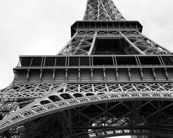 Paris black and white photography, Eiffel Tower, Paris photography, black and white photo, French wall art, Paris decor, fine art print