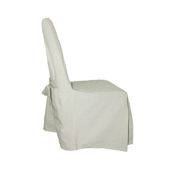 Off White Cotton Linen Dining Chair Slipcover FREE SHIPPING