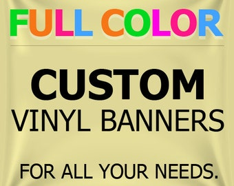 3'x9' Custom Vinyl Banner Custom Banner Vinyl Banner Business Retail Party Banner with True Solvent Ink Signs And Grommets by BannerBuzz