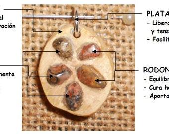 Rhodonite and Boj's wood