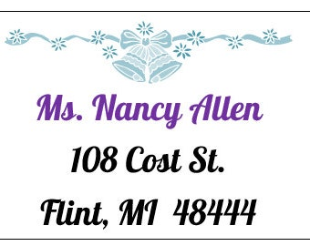 Wedding Invitation Address Labels for Individual Recipients