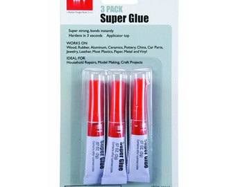 SUPER GLUE STRONG bonds instantly hardens in 3 seconds