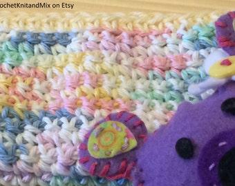 Washcloth for baby Multicolor Handmade Crochet Baby Organic Wash Cloths