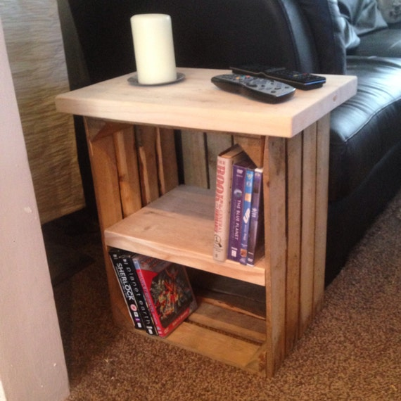 1 crate side table for your living room or bedroom chunky