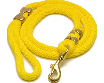 """Dog Rope """"CLASSIC"""" Dog Leash - in YELLOW"""