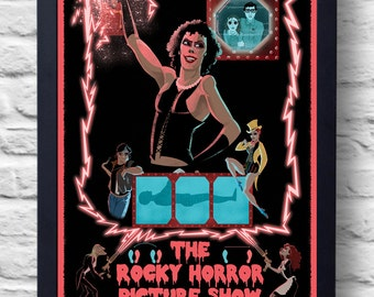 Rocky Horror Picture Show- Movie Poster Print, Tim Curry cult film poster, illustration, art, painting, gift