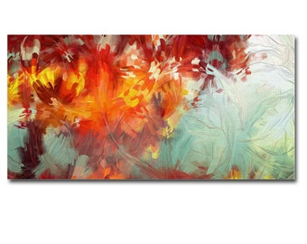 Abstract Art Canvas Print Panel Wall Art Framed home decor painting office decor 50 x 27 cm