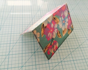 Recycled Floral Print Card Wallet