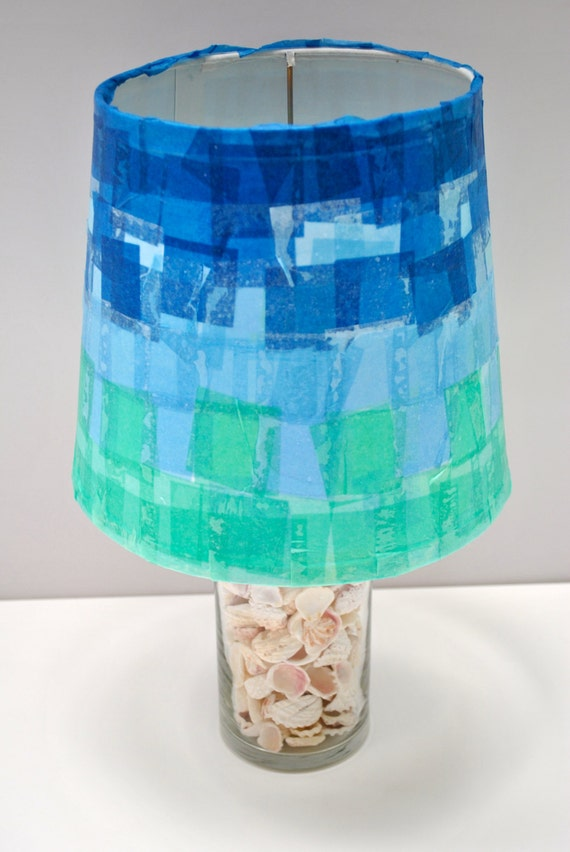 items similar to handmade tissue paper mache lamp shade 9