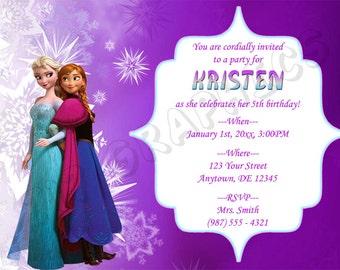 Frozen Birthday Invitation - Printable