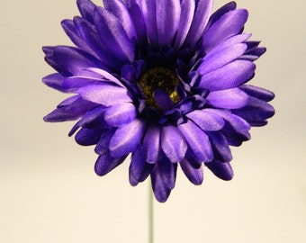 "Gerbera Daisy in Purple - 24"" Tall"