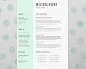 CV Design + Cover Letter, INSTANT DOWNLOAD, Printable Resume Template, Microsoft Word