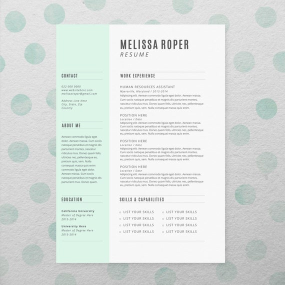 cv   comment faire simple et beau