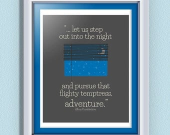 INSTANT DOWNLOAD Inspirational Quote from Albus Dumbledore to Harry Potter in the Half Blood Prince - Typographic Poster - Customizable