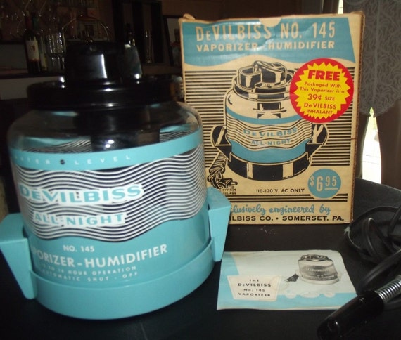 Vtg Devilbiss Model 145 Vaporizer Humidifier In Box Works