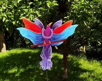 Garden plug bird of paradise, patch plug bird, multi colored, plant plug garden plug wood, Gartendeko