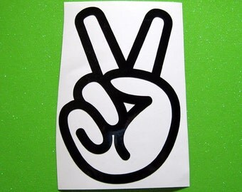 Peace sign vinyl decal, peace sign sticker, peace sign laptop decal, iphone decal