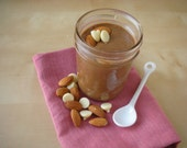 Handmade Almond Butter in decadent sweet flavors. Creamy and no hydrogenated oils or artificial flavors.