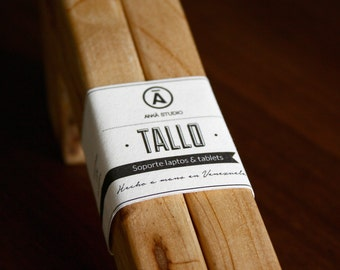 Tallo: Recycled Pine Wood Laptop stand // handmade // wooden // wooden laptop stand // hand made in Venezuela // GIFT