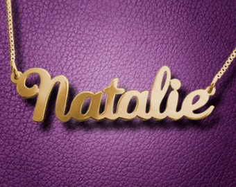 Custom Name Necklace, Custom Gold Name Necklace, Custom Personalized Necklace, Any Name Necklace, Personalized Necklace, Christmas Gift N029