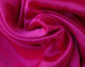 Magenta Pink Satin Fabric - 1.5 Yards - Fat Quarter