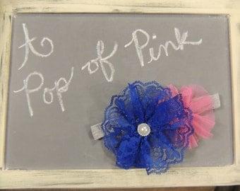 A Pop of Pink Girls Headband