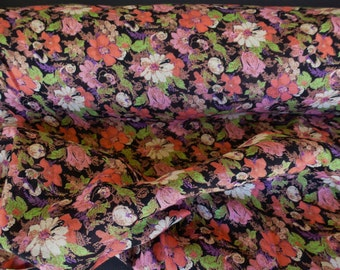 Floral Cotton Cambric Fabric by the Yard, Wide Goods, Cotton Yardage, Floral Cotton Yardage, Yardage