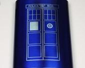 Dr. Who 8 oz Blue Tardis Flask