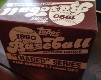 1990 Topps Traded Baseball Card Set