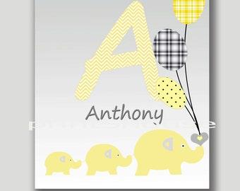 instant download Nursery art print boys room Nursery wall decor Digital Download print baby nursery decor Kids art  yellow gray 8x10 11x14