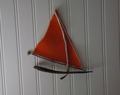 Wall Hanging - Driftwood  - sailboat - home decor  - nautical - beach house - boat - gift