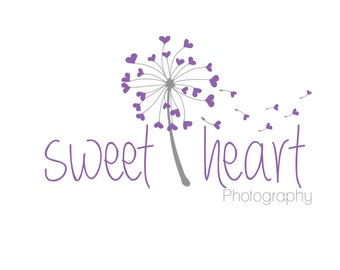 Photography logo, premade logo design, whimsical dandelion logo