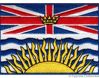 BRITISH COLUMBIA FLAG Patch Canada iron-on embroidered applique Top Quality
